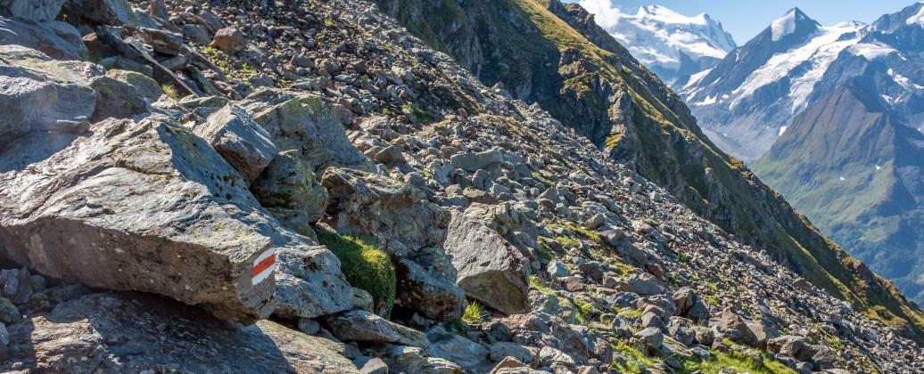 Crossing a Rockfall