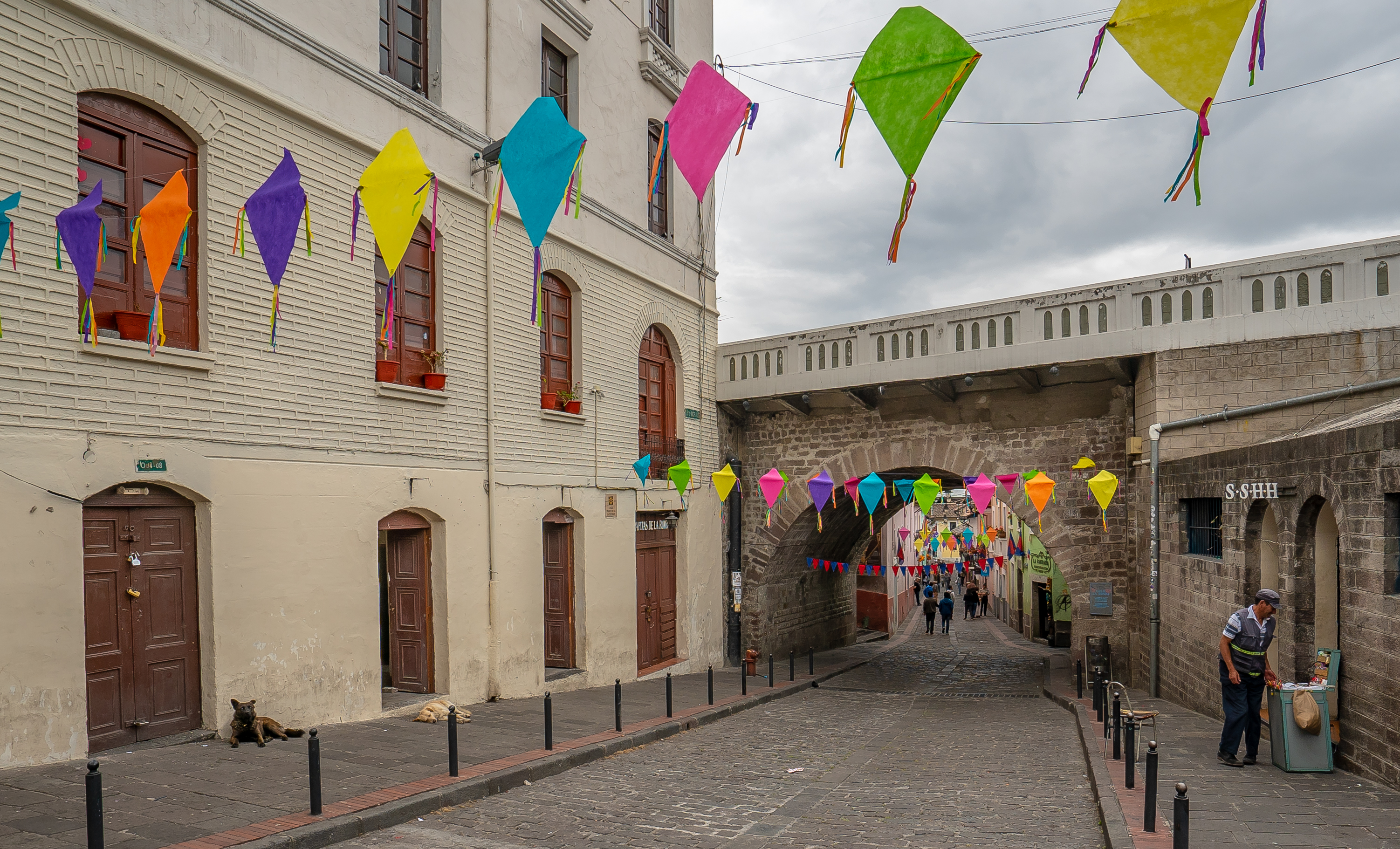 Entering Old Town Quito