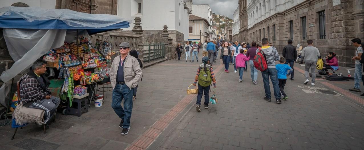 Quito Street Scene Wide