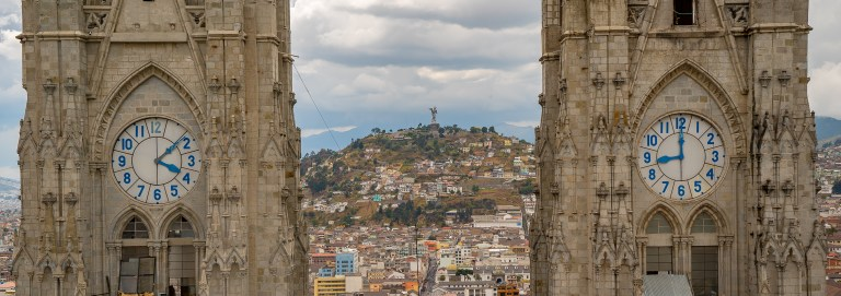 Quito - View of Mary Through Steeples