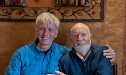 Lang and Carl at Restaurante Los Geranios