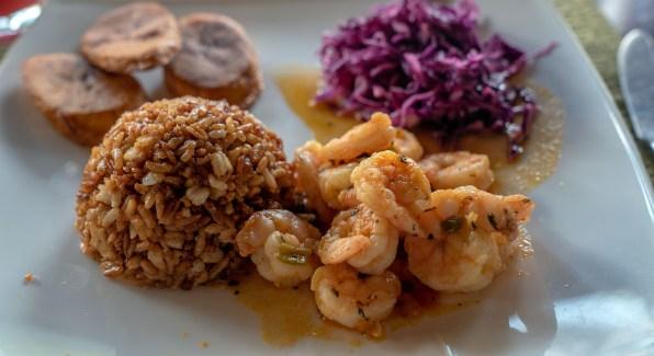 Shrimp Plantains Grains Cabbage