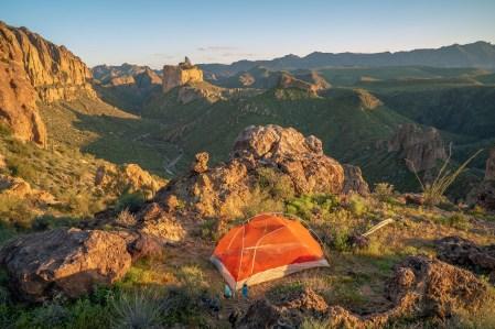 Campsite Above La Barge Canyon