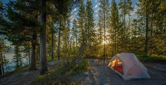 Campsite at Sunset
