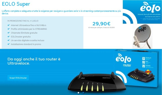 EOLO - Dove non arriva la ADSL / FIBRA !!!