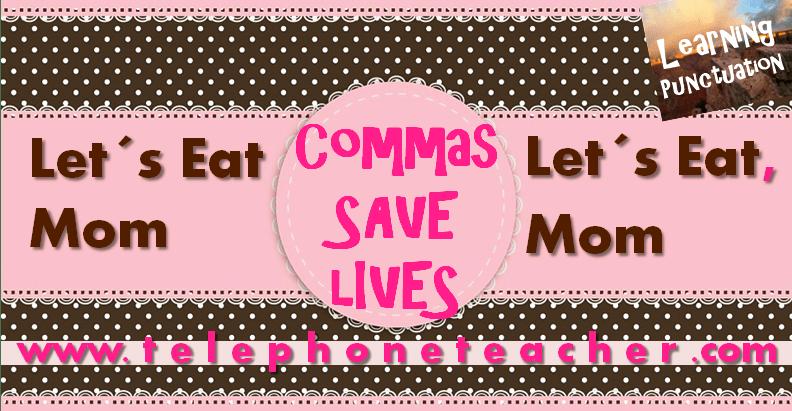 Las comas salvan vidas…….