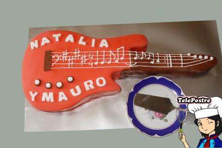 "Tarta Fondant ""Guitarra Electrica"""