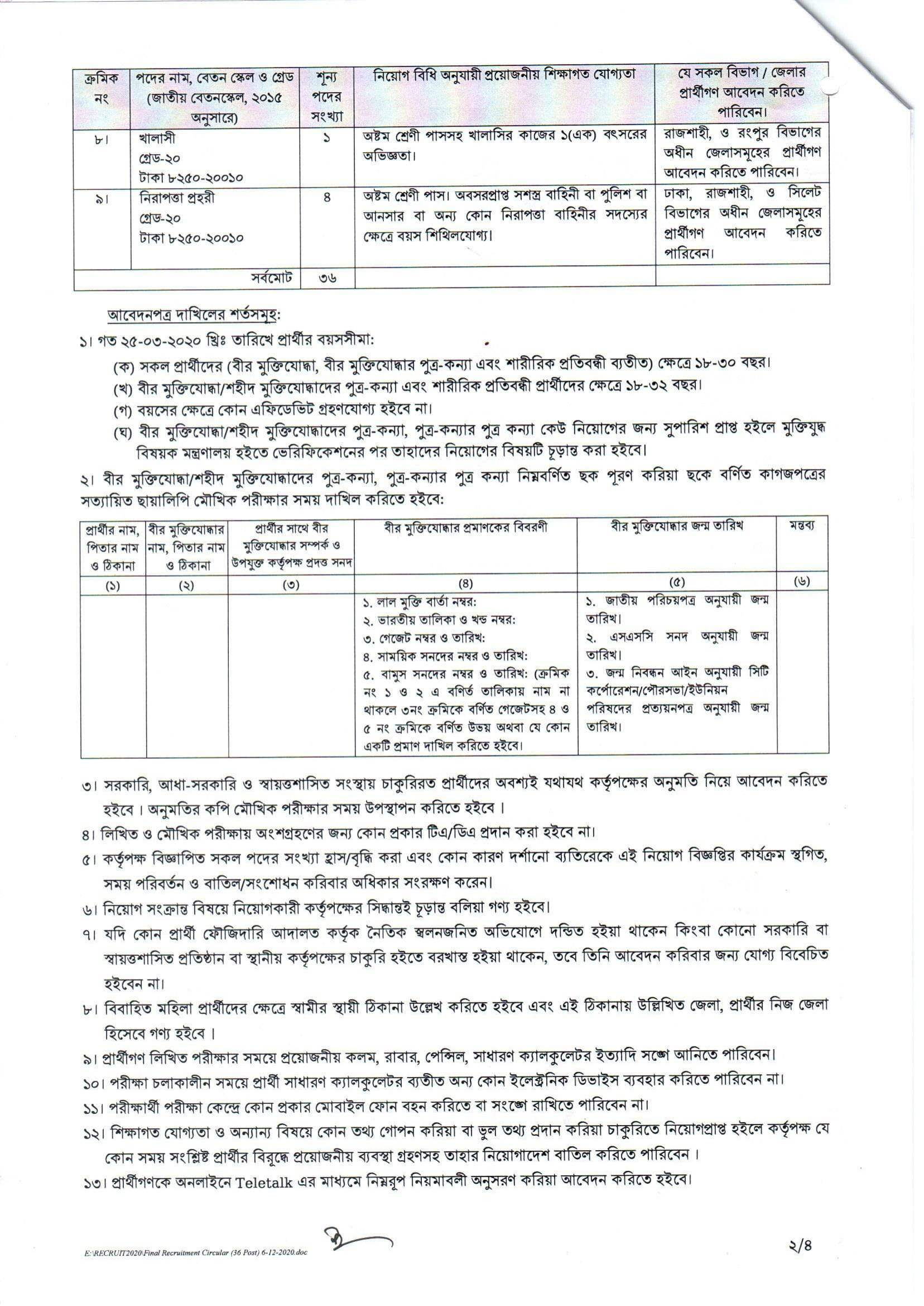 Bangladesh Standards and Testing Institution Job Circular 2020