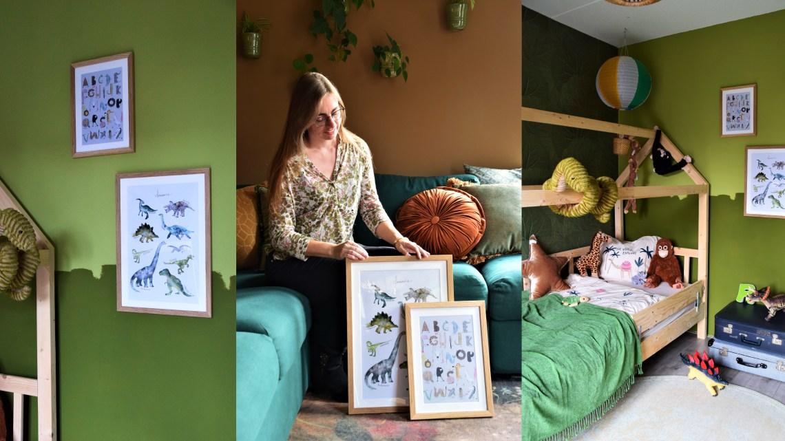 Juniqe posters stylen in de jungle slaapkamer van Ruben + kortingscode!