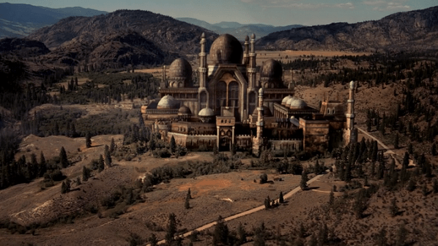 a screencap of a palace in the fairy tale world