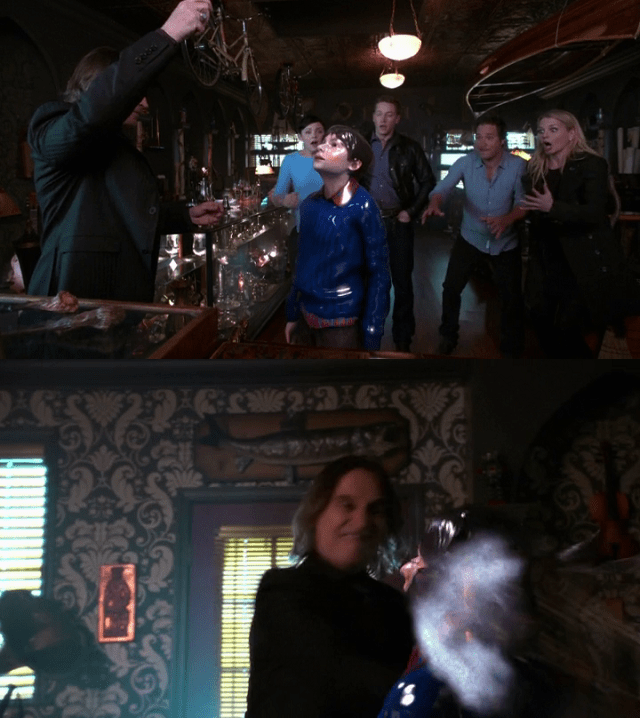 a screencap of mr. gold (played by robert carlyle) destroying a porcelain henry (played by jared s. gilmore)