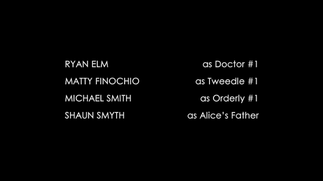 a screencap of the credits from once upon a time in wonderland