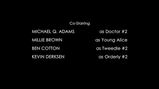 a screencap of the credits of once upon a time in wonderland