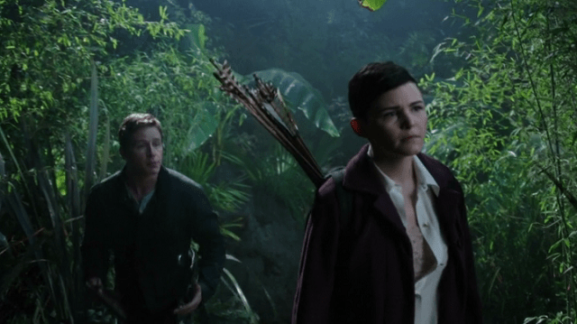 a screencap of david (played by josh dallas) trying to explain himself to an angry snow white (played by ginnifer goodwin)