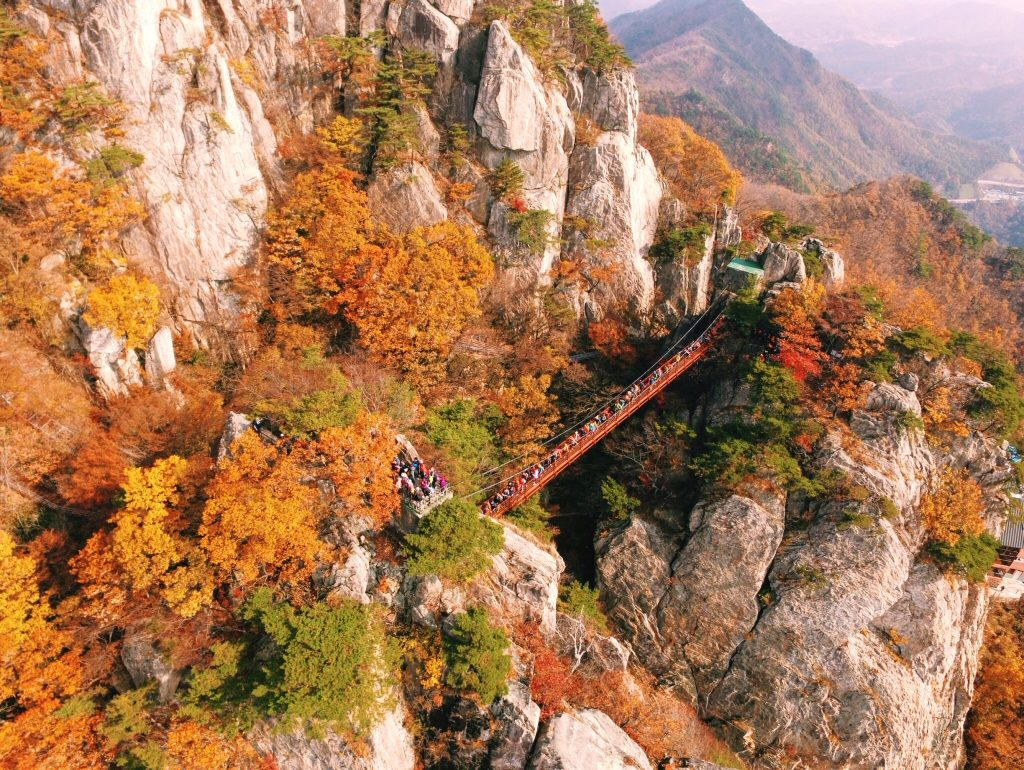 823e15f95609e Daedunsan Cloud Bridge, Autumn in Korea