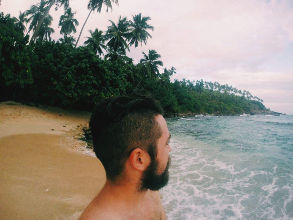 Ben enjoying the Mirissa view