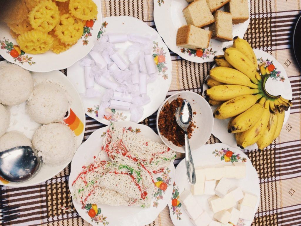 New Year's Day Breakfast by our host, Pradeep, in Mirissa, Sri Lanka
