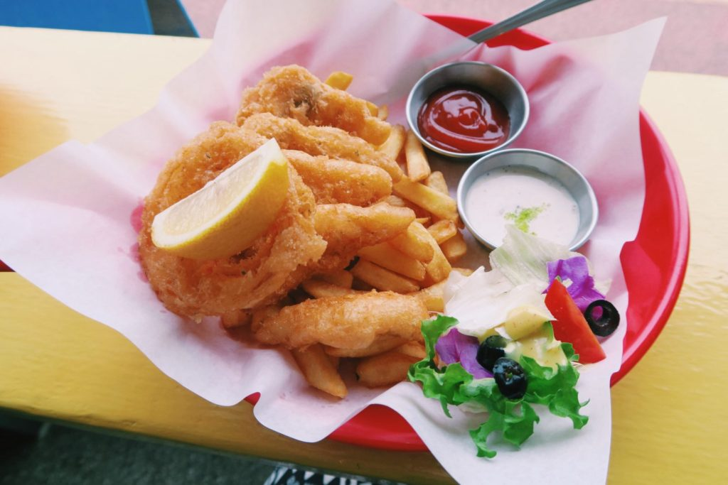 Willala's Fish and Chips plate