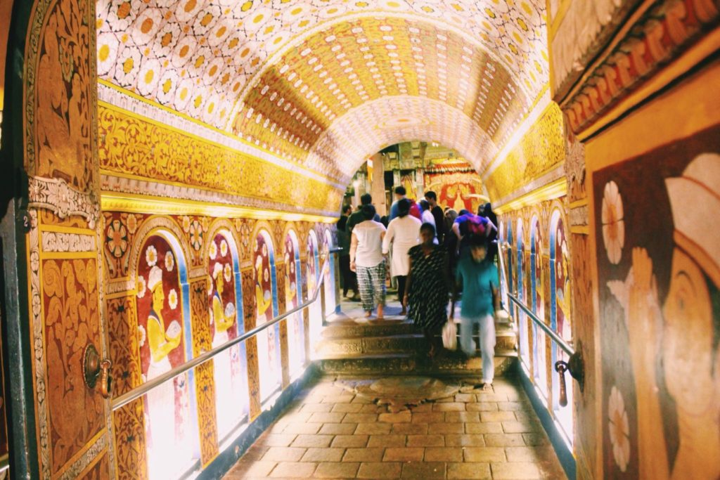Temple of the Tooth entrance in Kandy, Sri Lanka