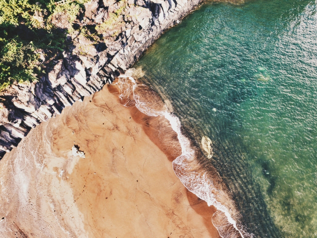 Hidden Beach on Jeju Island, South Korea