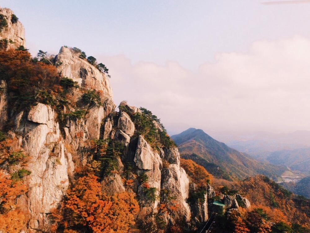 Daedunsan Mountain, South Korea autumn