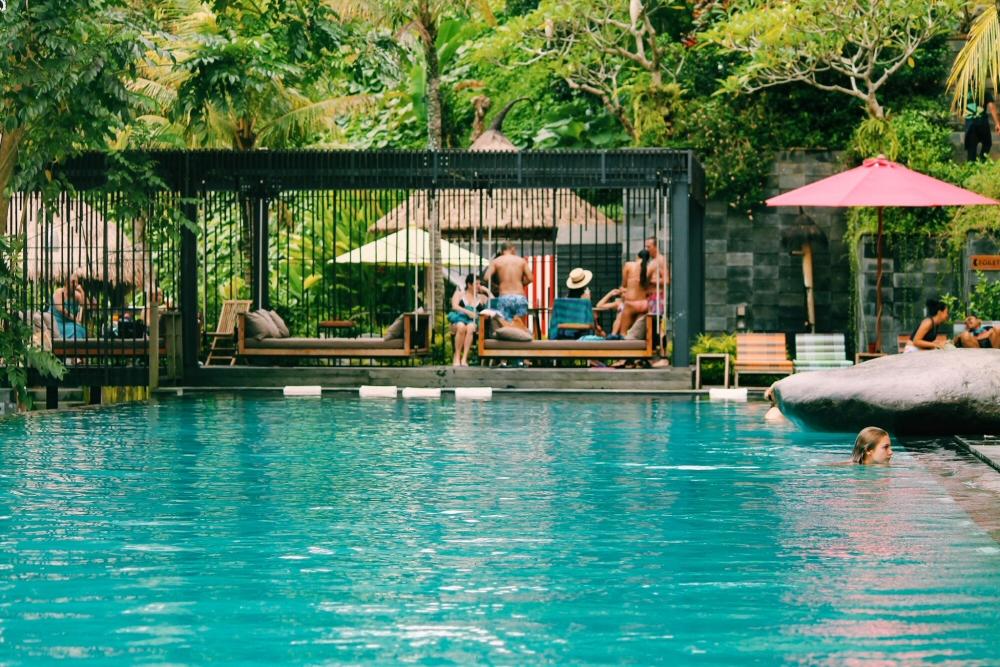 Jungle Fish Hanging Beds, Pool Club in Ubud, Bali, Indonesia