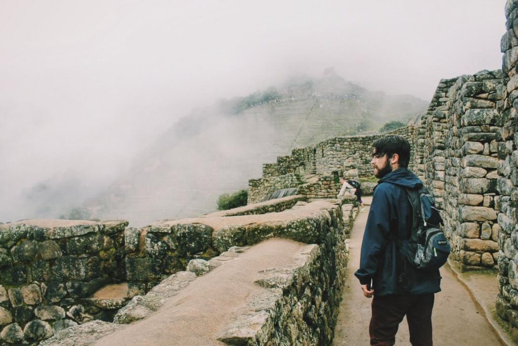 The incredible fog of Machu Picchu in South America