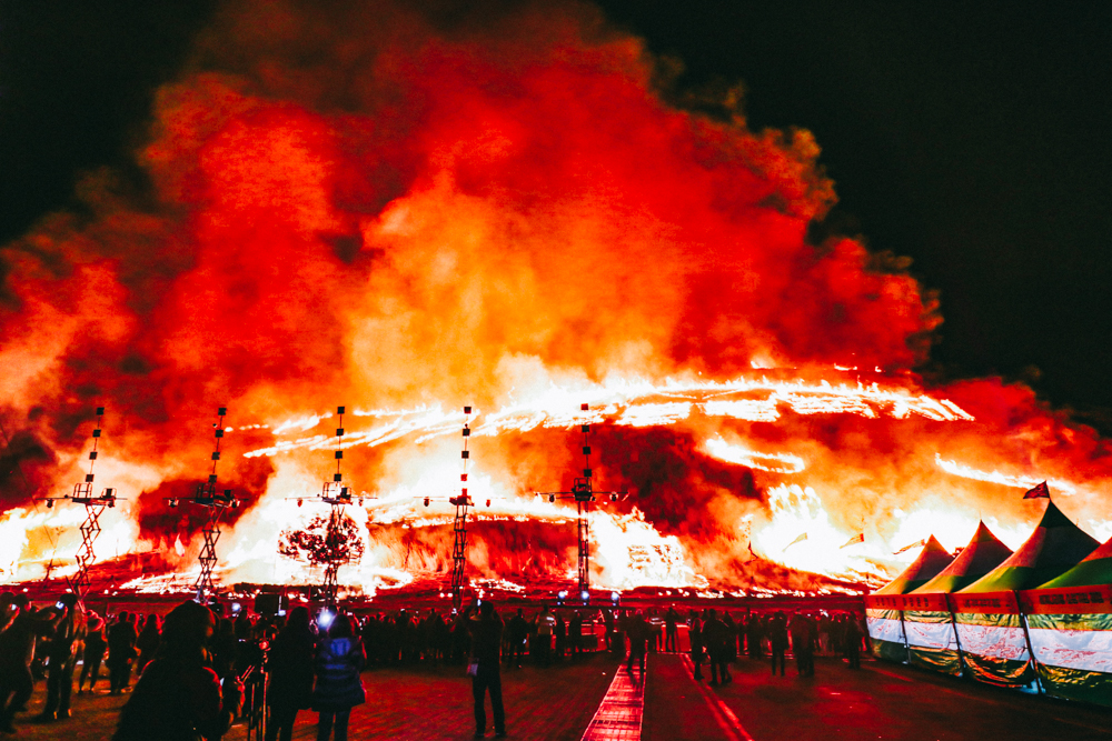 Spring in Korea is the best time to visit Jeju Island Korea for Jeju Fire Festival