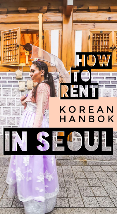The ultimate guide to rent Korean hanbok in Seoul. We found the most convenient and affordable way to rent this traditional Korean dress in South Korea! Renting hanbok in Seoul is one of the best things to do in South Korea, and definitely a top thing to do in Seoul!