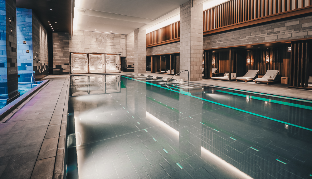 Indoor Pool and Four Seasons Spa at the best Luxury Hotel in Japan