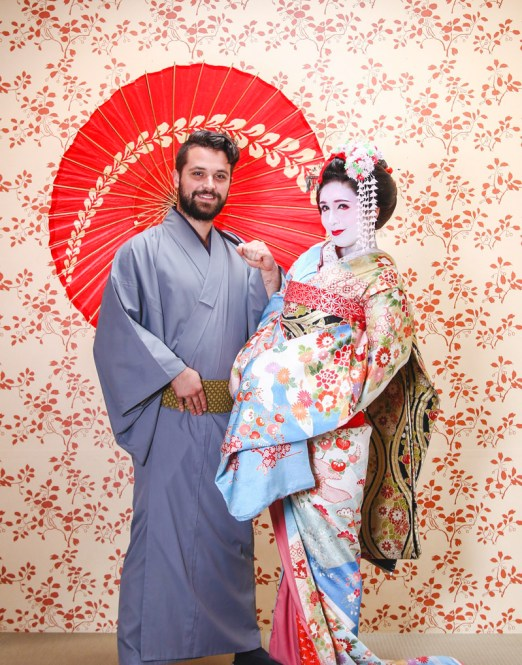 Japan Travel, Maiko Myoto Japanese Geisha Makeup and Samurai Costume experience