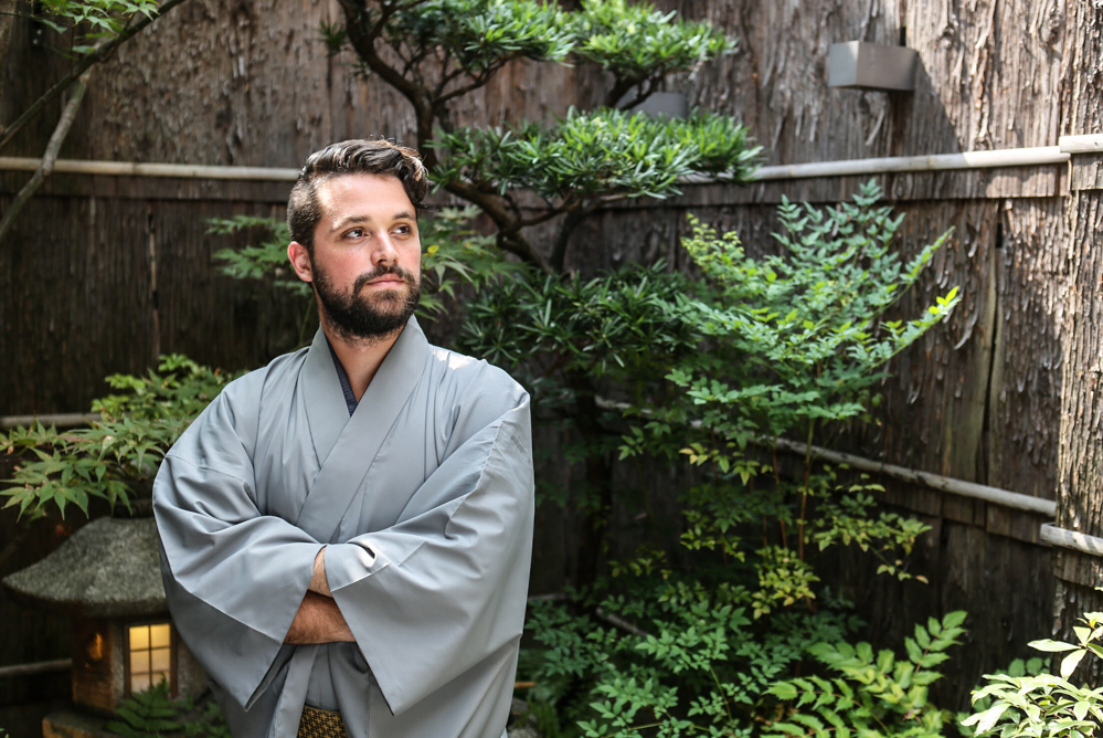 Samurai Costume Experience in Kyoto for Men