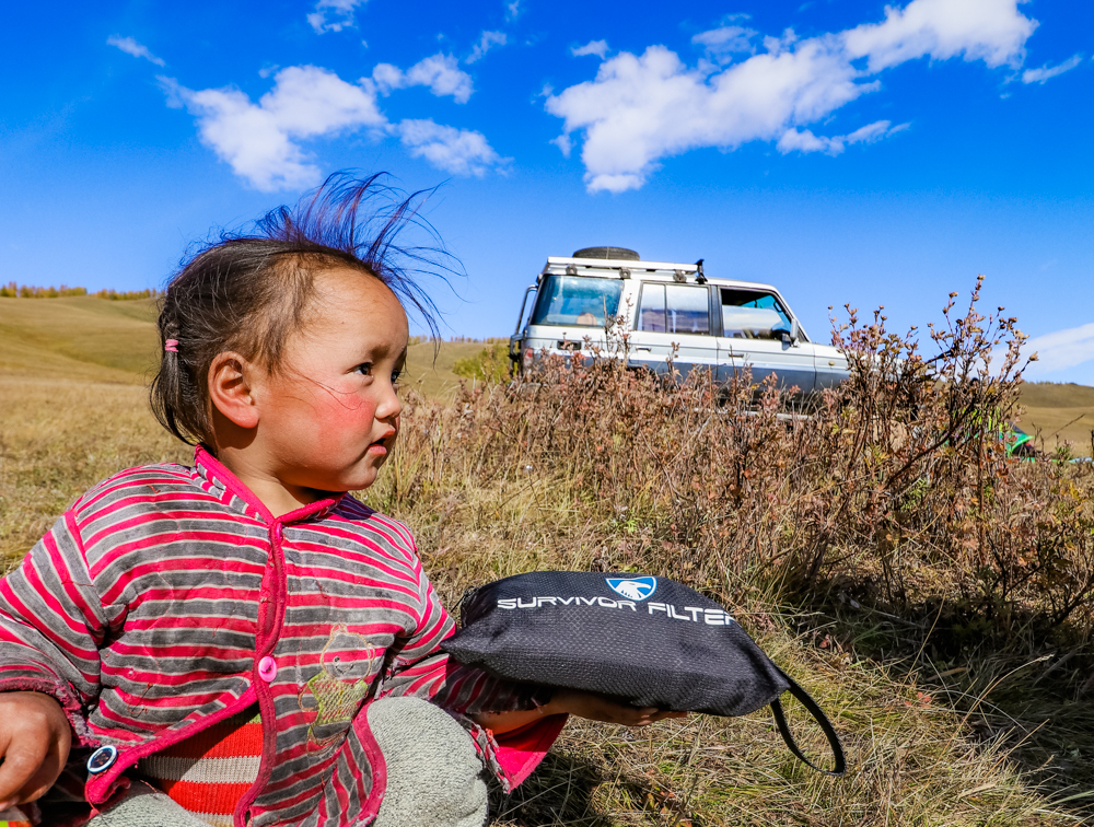using survivor filter pro in mongolia taiga trek for travel