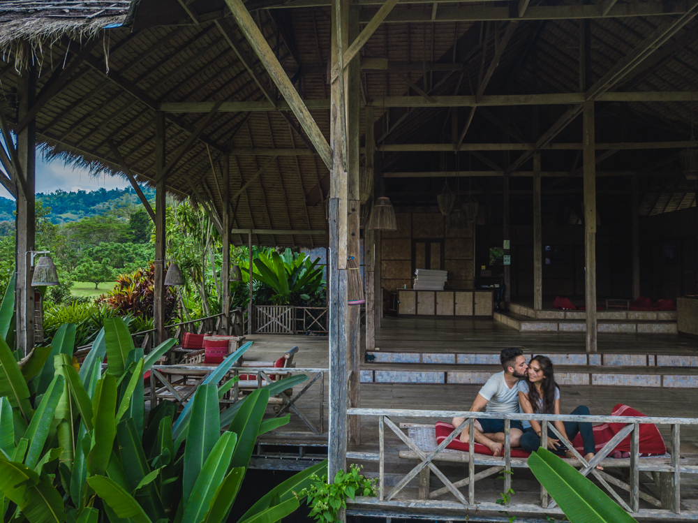 Chiang Mai Thailand hotels, couple at the eco lodge hill tribe experience