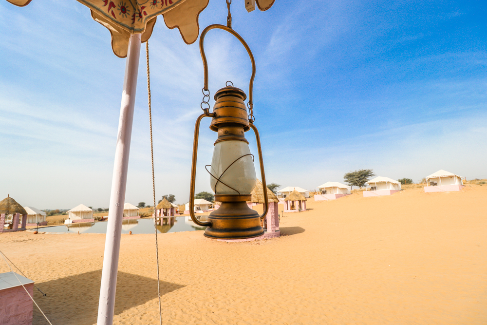 Jaisalmer desert camp from luxury Swiss tents