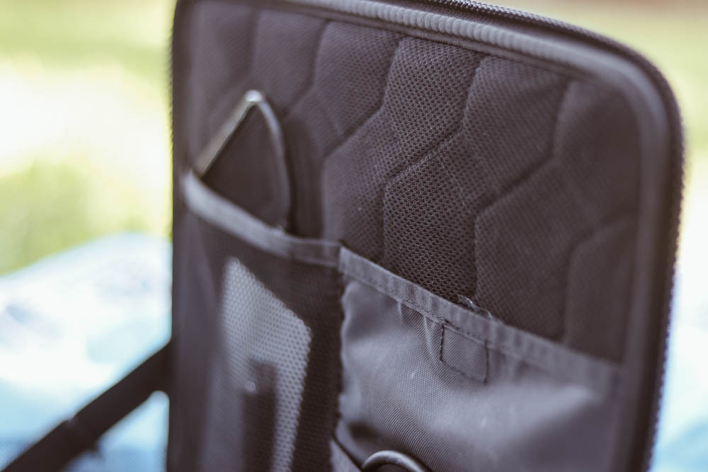 Internal compartments for laptop sleeve