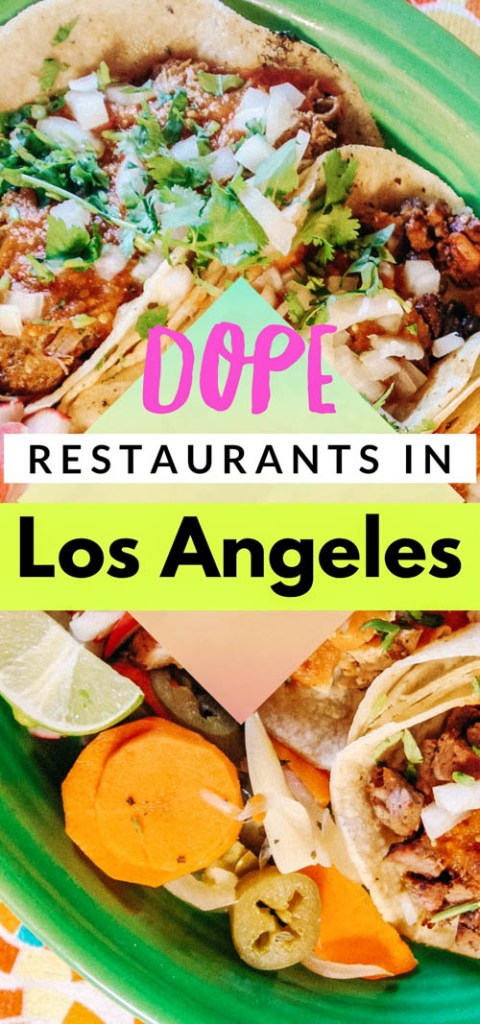 A list of the best places to eat in LA (from San Fernando Valley to West LA), full of flavor and vegetarian, vegan, and pescatarian options for your Los Angeles trip! A guide to local favorite Los Angeles restaurants, including Mexican, Indian, Indonesian, Filipino, Vietnamese, and Ethiopian food in LA!