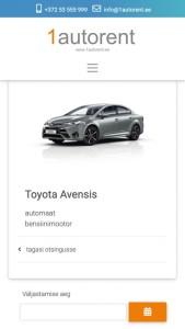 sõiduki info