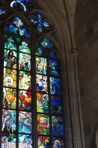 Witraż w katedrze św. Wita