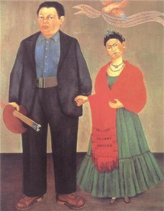 Frida i Diego Rivera - 1931r. źródło:www.fridakahlo.org
