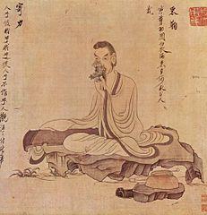 Zitherspieler. Von Chen Hongshou (17. Jh.)