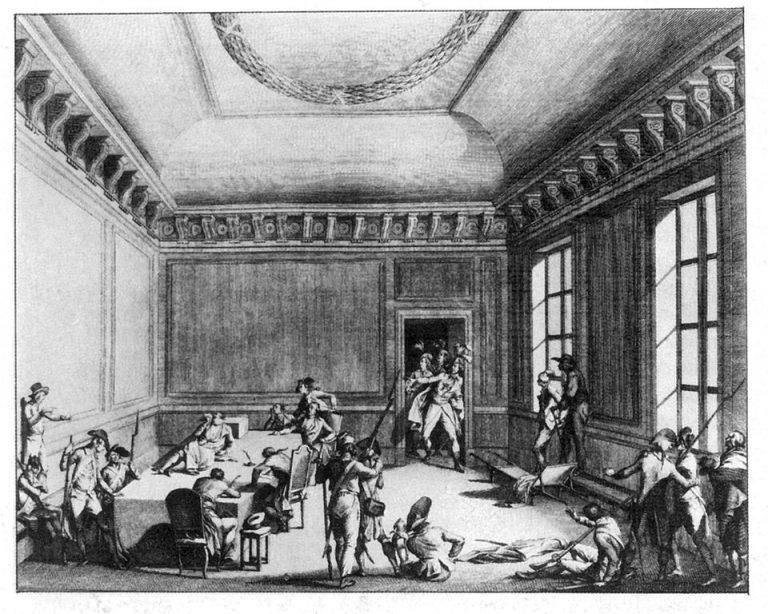 Die Verhaftung des Robespierre