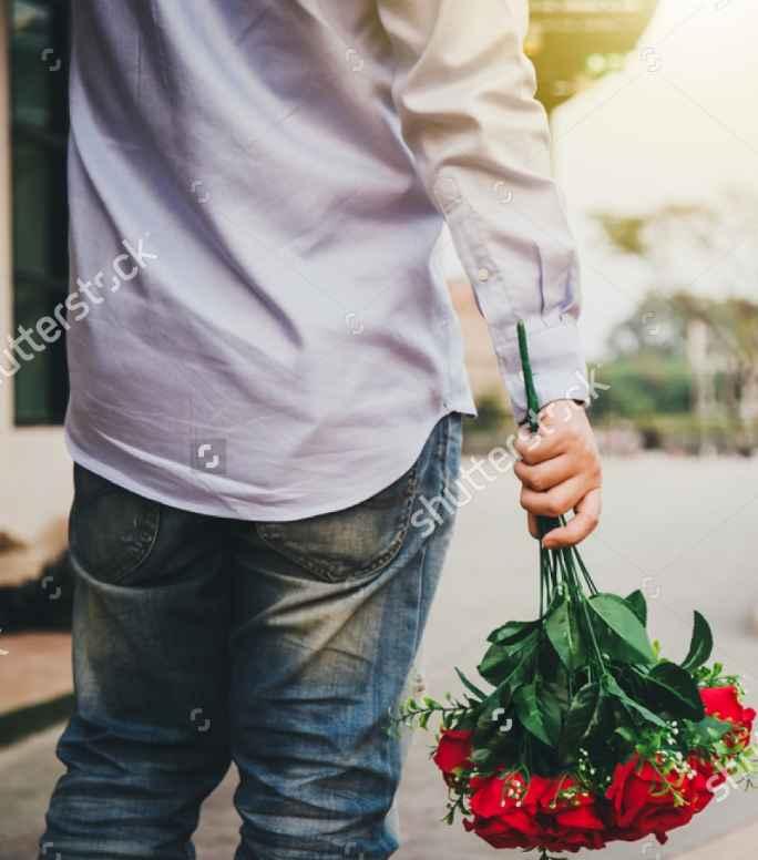 HE GOT  ME FLOWERS