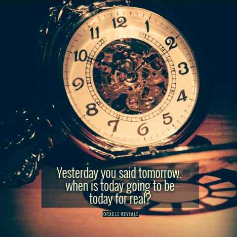 Time isn't going anywhere
