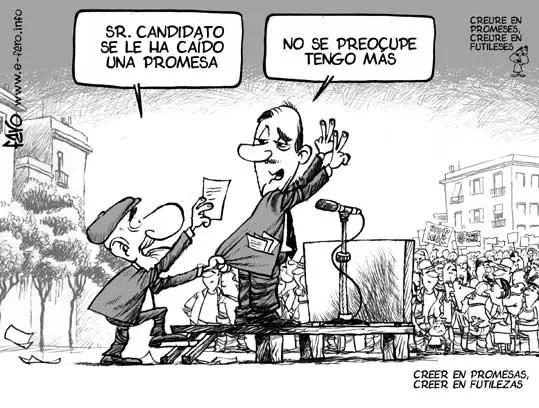 Promesas de los políticos
