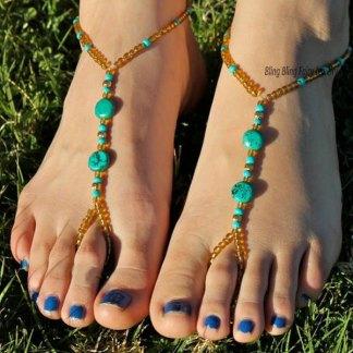 2015-new-fashion-bohemian-beach-barefoot-font-b-sandals-b-font-turquoise-font-b-bead-b