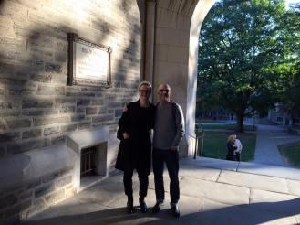 Svåger Rob och jag i Princeton Univ.