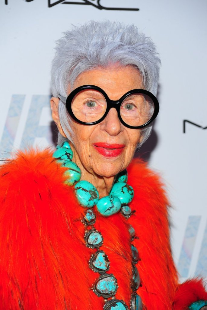 Iris Apfel at arrivals for IRIS Premiere, The Paris Theatre, New York, NY April 22, 2015. Photo By: Gregorio T. Binuya/Everett Collection