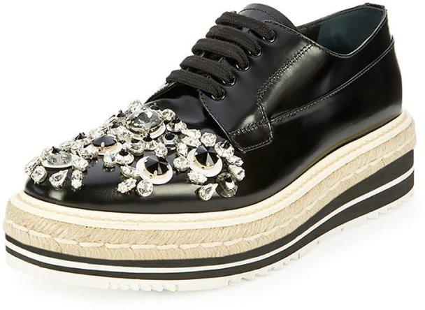 Prada-Crystal-Embellished-Espadrille-Sneaker-Black-Nero-1350 den utsmyckade