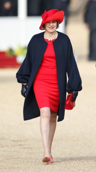 Bold-Sun-Hat-Leather-Gloves by Theresa May